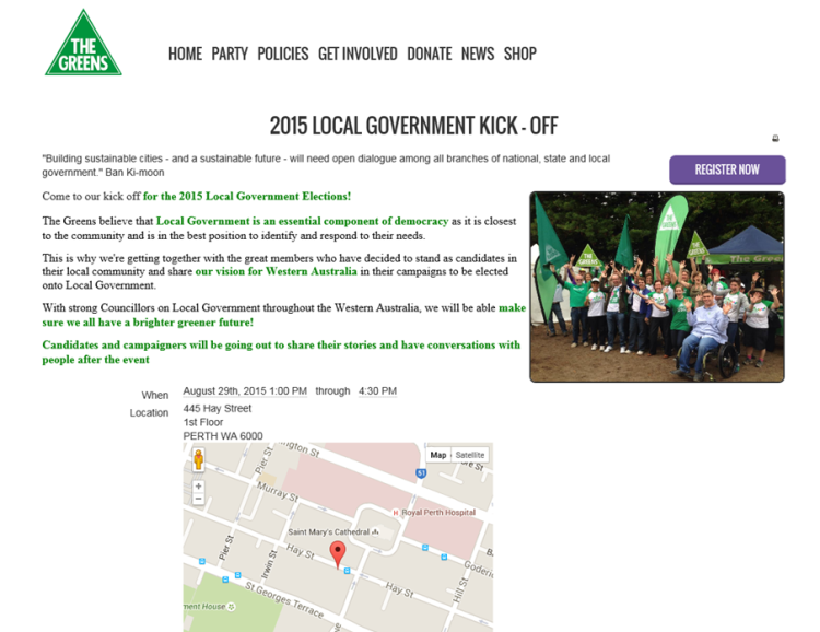 CanningAccountability WA Greens 2015 Local Government Kick-off