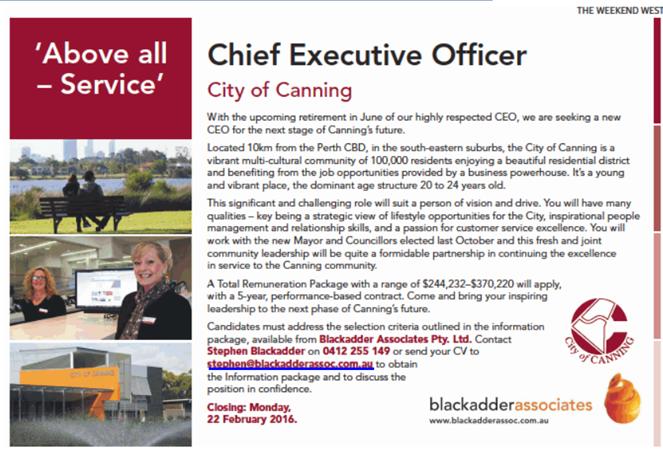 CanningAccountability image CEO job advertisment Feb 2016